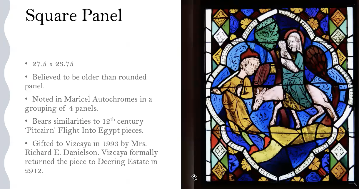 """""""Flight Into Egypt"""" stained glass restoration project by The 100 Ladies Of Deering."""